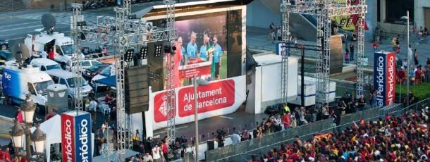 Audiència col.lectiva i celebració del títol del Mundial de futbol a Barcelona