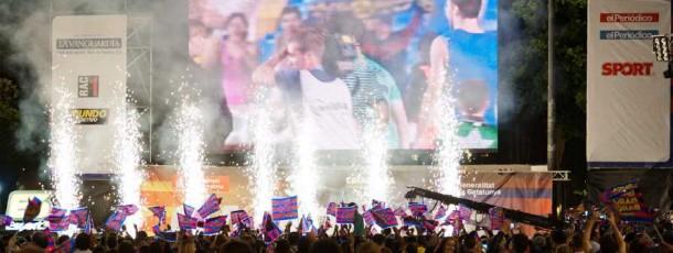 Celebració Final Lliga 2011