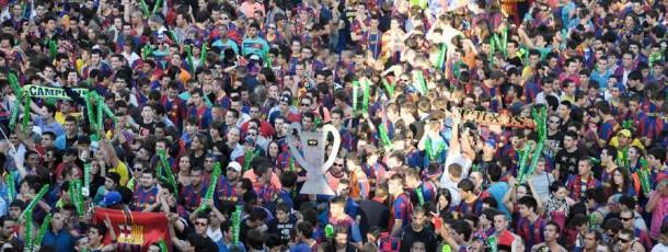 Celebració Final Champions League a Barcelona