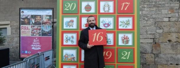 Calendari d'Advent a la Fira de Santa LLúcia de Barcelona 2014