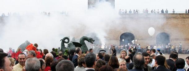 Festa al Castell de Montjuïc